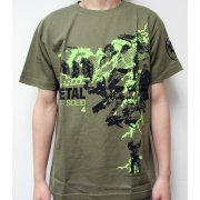 Metal Gear Solid 4 Design T-Shirt (Olive / Size: L)