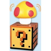 Super Mario Bros. Kinoko Solar Figure: Yellow Mushroom With Red Dots