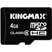 Kingmax Micro SD Card 4GB Class 6 (W/ Adapter)