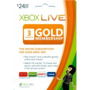 Xbox Live 3-Month Subscription Gold Card