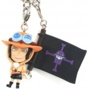 One Piece Pre-Painted PVC Key Chain Vol. 3: Ace