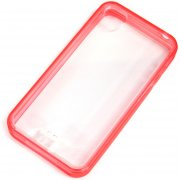 Soft Jacket iPhone 4/4S  Frame (Clear Tinted Red)