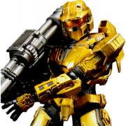 Halo Reach Play Arts Kai Non Scale Pre-Painted PVC Figure: Combat Evolved Spartan Mark V Gold Ver.