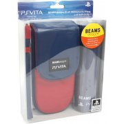 BEAMSdesign PS Vita Pouch Clothing & Pouch Set (Red & Dark Blue)