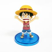 One Piece World Collectable Pre-Painted PVC Figure word : Luffy TT03