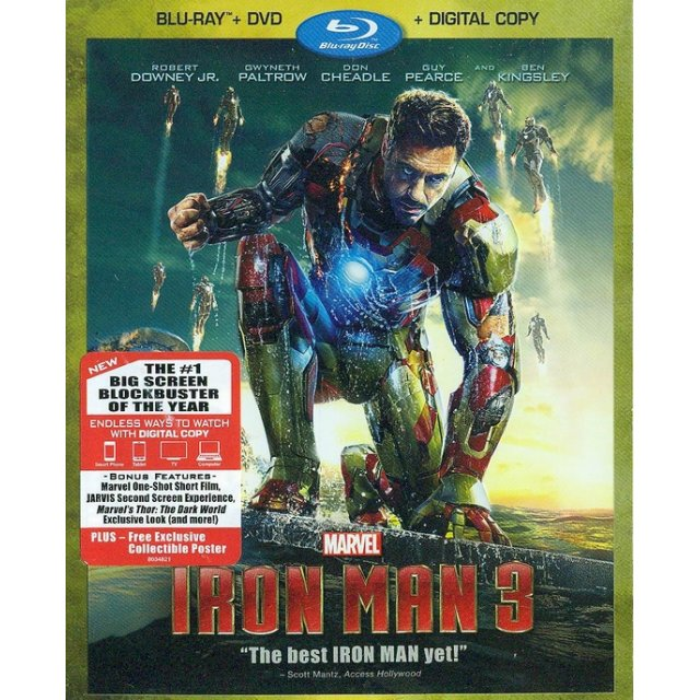 Iron Man 3 [Blu-ray+DVD+Digital Copy]
