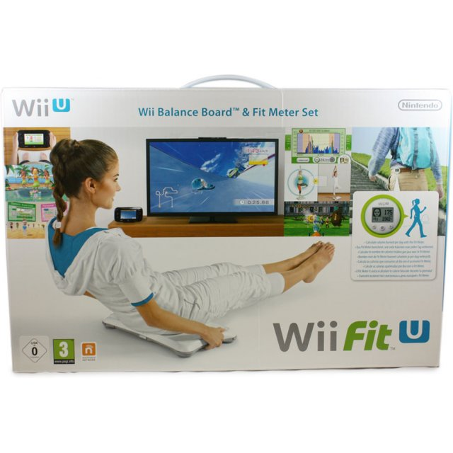 Balance Board Xbox One: Wii Fit U & Balance Board (White) & Fit Meter (Green